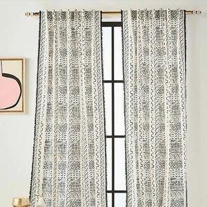 Anthropologie Shayla boho curtain panels